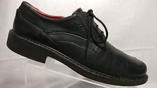 Ecco Black Leather Vegetable Tanned Shock Point Casual Oxfords Men's US 10.5