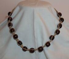 Handmade Hemp Necklace With All Wood Beads.