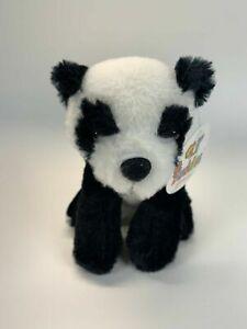 """Sitting Panda Bear 6"""" Fiesta Stuffed Plush Animal Black and White Lil' Buddies"""