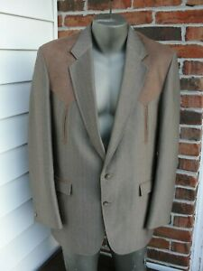 Vintage Circle S Western Men Blazer Jacket Brown Made in USA Size 42L