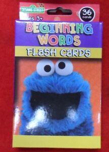 SESAME STREET 'BEGINNING WORDS' FLASH CARDS EDUCATIONAL KIDS GAME - FREE POST