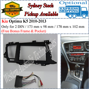 Harness + Fascia facia Kia Optima 2010-2013 Double Two 2 DIN Dash Kit