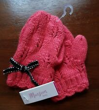 Monsoon Baby Red Knitwear Mittens - Age 1-3 yrs - New