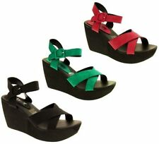 Wedge Ankle Strap Synthetic Sandals & Beach Shoes for Women