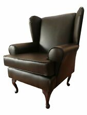 Faux Leather Armchairs