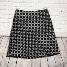 Anthropologie Snak Eyelet Embroidered A-line skirt Size 10 Lined Bohemian Brown