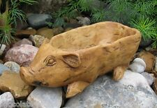 PIG Candle/Candy/Nut BOWL~Primitive Wood Style*French Country Farmhouse Decor