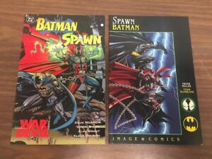 BATMAN SPAWN Team Up 2 Book Format set DC & Image Comics, Frank Miller McFarlane