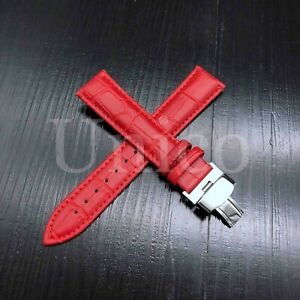 12-24 MM Watch Band Strap Leather Alligator Deployment Clasp Fits Breitling New