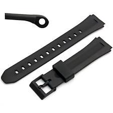 Correa de Reloj 18mm Negro Resina para caber Casio F-201, F201W