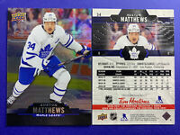 2020-21 Upper Deck Tim Hortons Base #34 Auston Matthews Toronto Maple Leafs