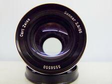 Carl Zeiss Sonnar 2.8 85mm Lens Rollei QBM mount+Caps+Case EXCELLENT++
