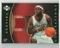 LEBRON JAMES 🔥2006-07 Upper Deck Trilogy Generations Game Jersey Rare 3RD YEAR
