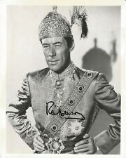 Hand Signed 8x10 original photo still REX HARRISON as THE KING OF SIAM + my COA