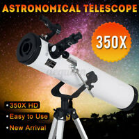 US 700x76mm Reflector Telescope Beginner With Tripod And Eyepieces Dual  U