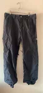 BURTON Snowboard Pants Ski Pants Black Mens Size: Medium M Graffiti Burton Logo