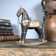 Vintage antique decorative Indian rocking horse salvage curio tourist piece