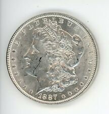 1887 AU MORGAN SILVER DOLLAR