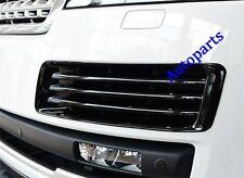 Gloss Black Front Fog vent mesh grille cover trim For Range rover L405 2013-2017