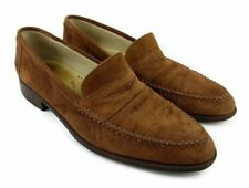 Giorgio's Of Palm Beach Men Moccasins Toe Tan Suede Loafers SZ 9 M Italy Shoes
