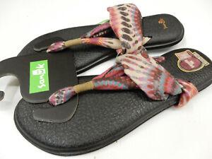Sanuk Womens Sandals Yoga Sling 2 Prints Tie Dye Melon Size 9