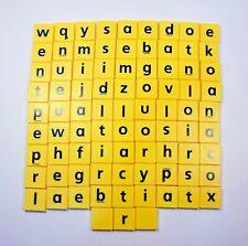 JUNIOR SCRABBLE - Set Of 84 Plastic Letters Tiles