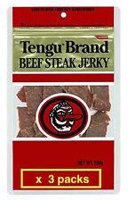 Tengu brand beef jerky regular 100g x 3packs JAPAN Import