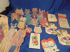 Paper doll clothes 25 pcs vintage childrens Easter & Valentine cards