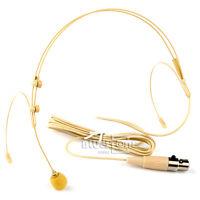 Dual ear hook Headset Head Microphone for Shure Wireless XLR 4pin Mini TA4F Plug