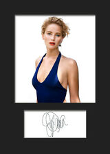 JENNIFER LAWRENCE #2 A5 Signed Mounted Photo Print - FREE DELIVERY