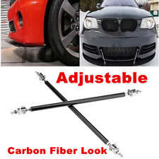 2pc Adjustable Front Bumper Lip Splitter Strut Rod Tie Support Bars For Car SUV