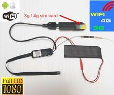 1080P WiFi Mini Spy Hidden IP Camera DIY DVR 4G LTE Sim GSM Instant Stream Video