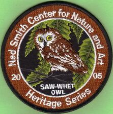 "Pa Pennsylvania Game Fish Commission New 4"" Ned Smith 2005 Saw-Whet Owl Patch"