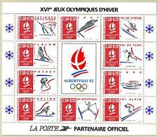 Bloc Feuillet BF14 - XVIème Jeux Olympiques d'Hiver - Albertville 92 - 1992