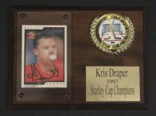 Kris Draper Autographed NHL Score Card Plaque Lot 220