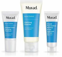 Murad Get Over Zit Clarifying Cleanser, Treatment & Pore Mattifier Set NEW