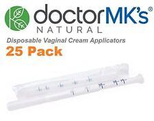 Disposable Vaginal Applicators (25-Pack), Fits Premarin Estrace Contraceptive