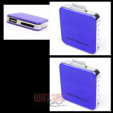 2X 2200MAH EXTERNAL BLUE BATTERY BACKUP CHARGER USB IPHONE 4S 4 3GS IPOD TOUCH