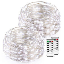 2x 50LED Copper Wire AA Battery Powered String Fairy Light with Remote Control