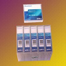 5 Stück, Quantum LTO 2, MR-L2MQN-01, Data Cartridge, Datenkassette, NEU & OVP