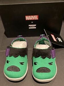 Tiny TOMS X Marvel Tiny TOMS Whiley Hulk Sneakers - Toddler Size 3 Shoes