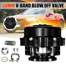 UNIVERSAL 50MM 35 PSI BLACK MONSTER TURBO BLOW OFF VALVE BOV WITH V-Band  -