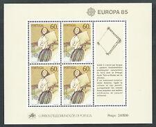1985 EUROPA PORTOGALLO FOGLIETTO MNH ** - B