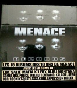 Coffret 15 CD ALBUM cd rap édition limitée MENACE 10 ANS anniversaire