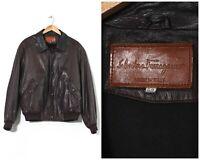 Mens SALVATORE FERRAGAMO Leather Jacket Coat Brown Size 42 52 XL