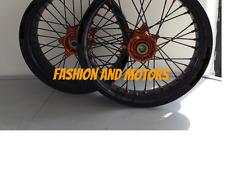 ***FA-BA*** COPPIA RUOTE BARTUBELESS MOTARD SUPERMOTO KTM SX SXF EXC   wheel