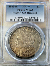 🌟 VAM-4 O/S Recessed 🌟 1882-O MS-62 MORGAN DOLLAR PCGS CHEAPEST ONE ON Ebay