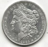 U.S.A. 1 Dolar Morgan 1885 @ Sin circular @ plata
