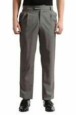 Versace Men's Gray Pleated Wool Mohair Dress Pants US 32 IT 48