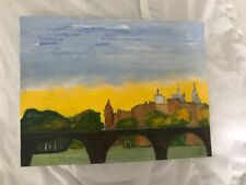 Peinture à l'huile de SZYJKA Aaron Christian sur canson